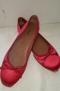 Marc Jacobs Satin Red Flats